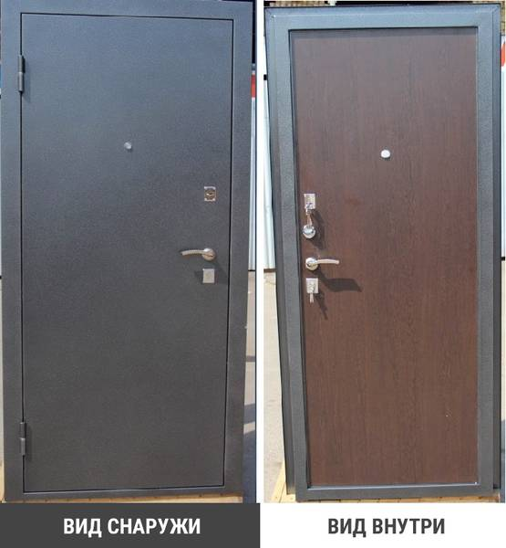 тамбурная металлическая дверь в сзао
