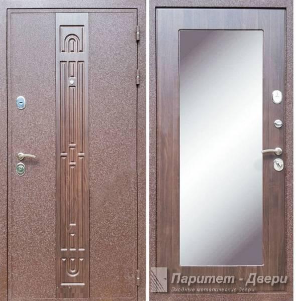 двери входные металлические крокодил с зеркалом